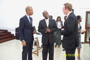 Hon. Jannuary Makamba, Deputy Minister of communication, science and technology is here at costechTANZANIA, center is Eng. George Mulamula, CEO for DTBi and Right is Mr Jussi Hinkkanen the Vice President for Nokia Corporate Relations and Business Environment, Middle East and Africa #NokiastoreTZ, #COSTECHTZ